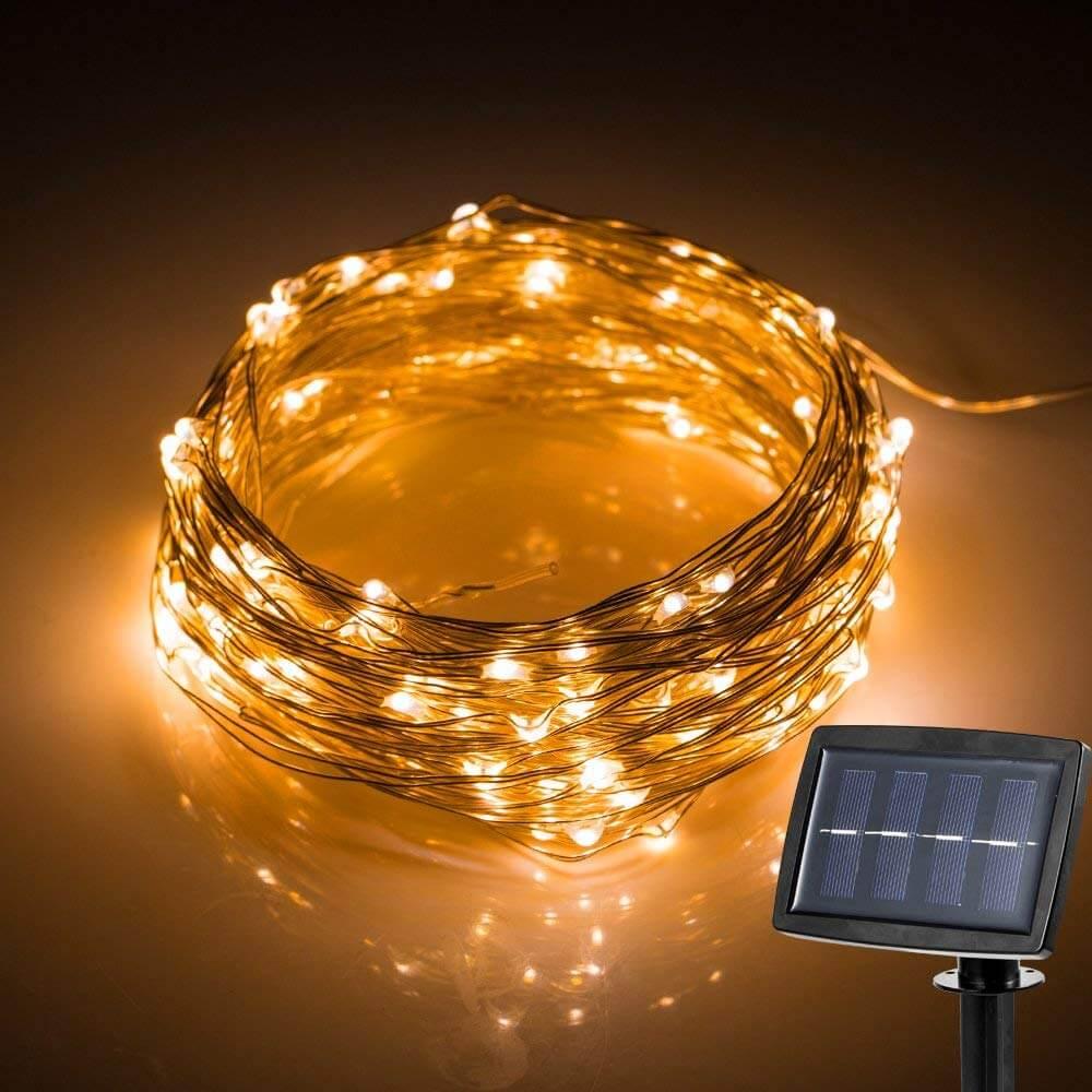 Hallomall LED Solar Powered String Lights