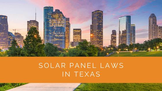 Solar Panel Laws in Texas