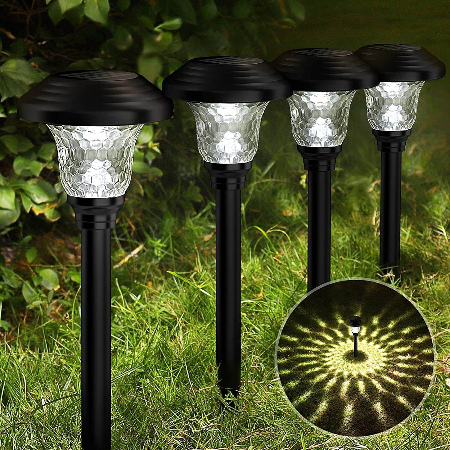 Balhvit Glass Solar Pathway Lights