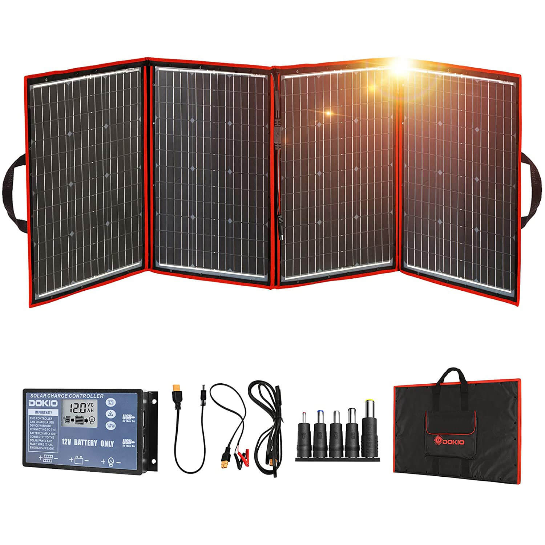 DOKIO 220 Watts Monocrystalline Foldable Solar Panel