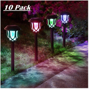 ExcMark Color Changing Solar Pathway Lights
