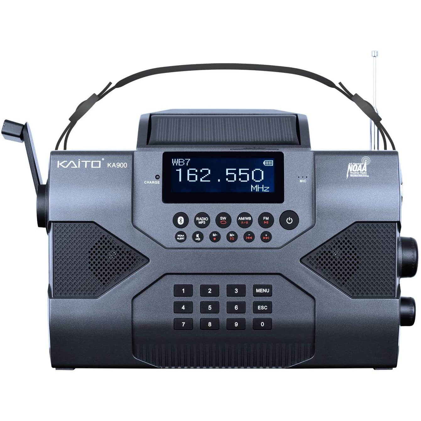 Kaito Emergency Radio Voyager Max KA900 Solar Powered Portable Radio