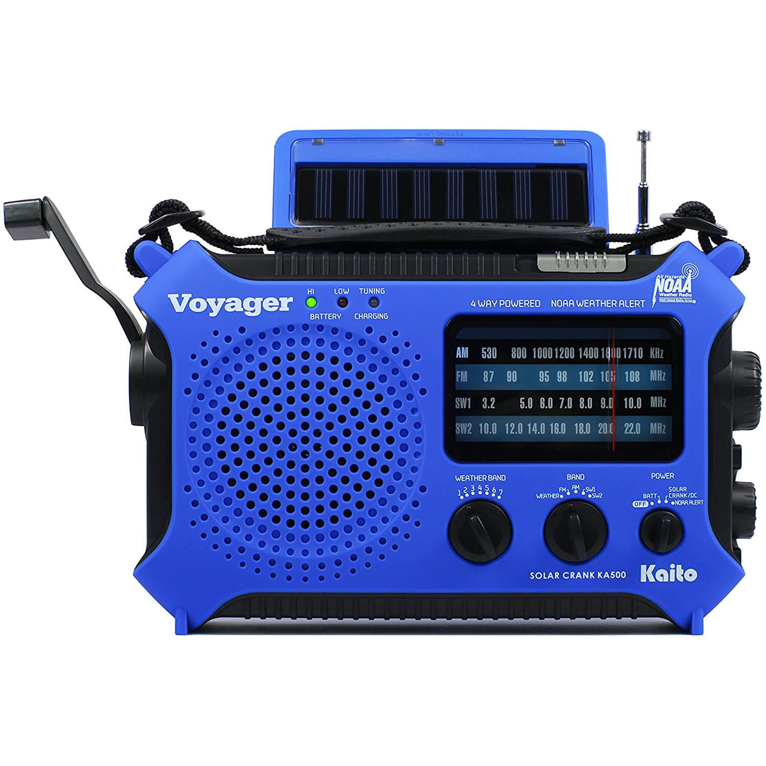 Kaito KA500BU 5-Way Powered Emergency AM/FM/SW Weather Alert Radio