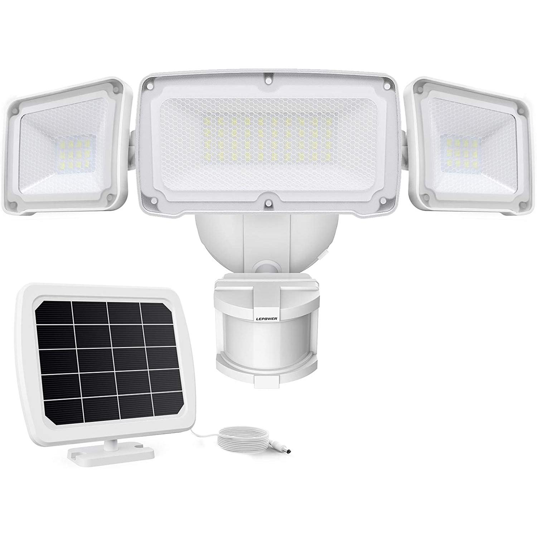 LEPOWER 1600LM LED Solar Flood Lights