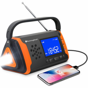 RunningSnail Emergency NOAA Weather Crank Solar Powered Portable Radio