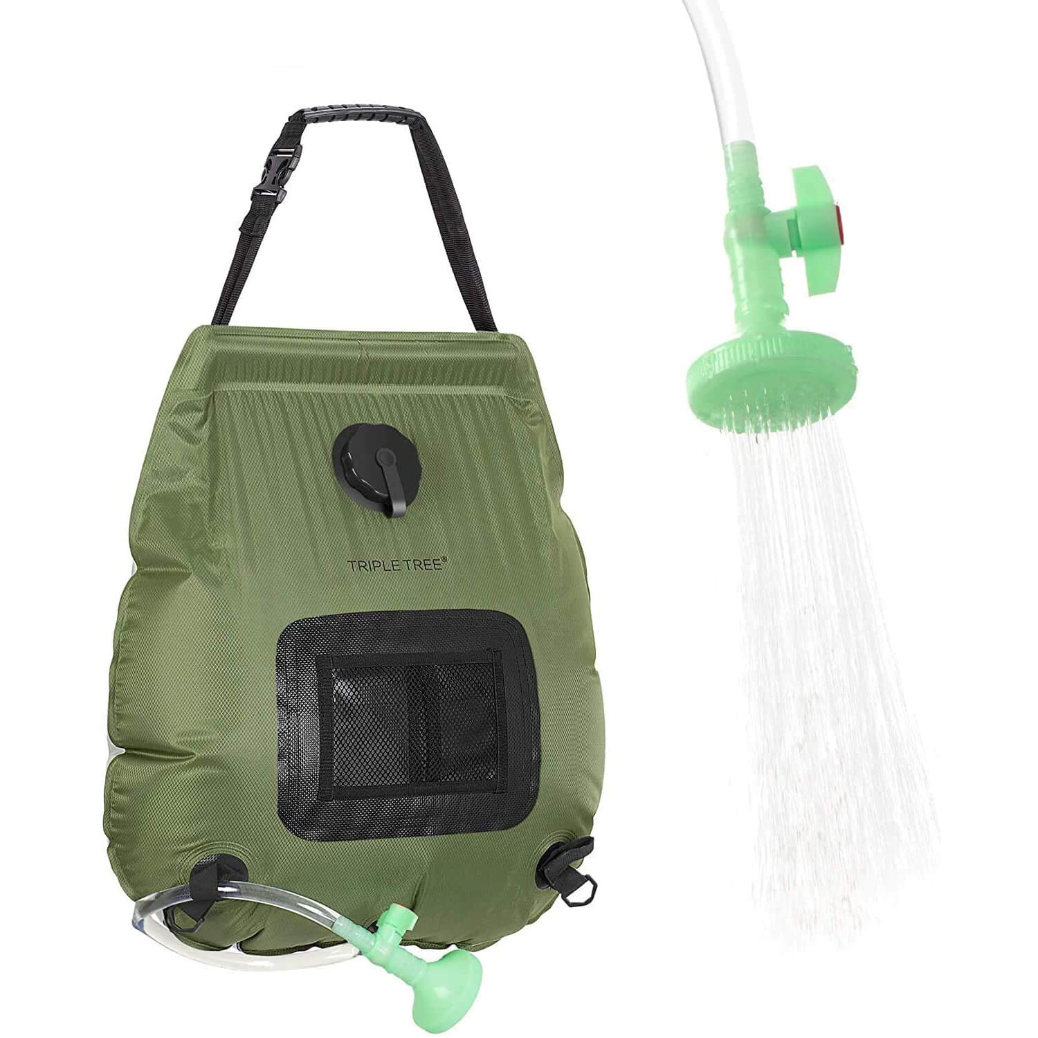 TripleTree Camping Solar Shower Bag