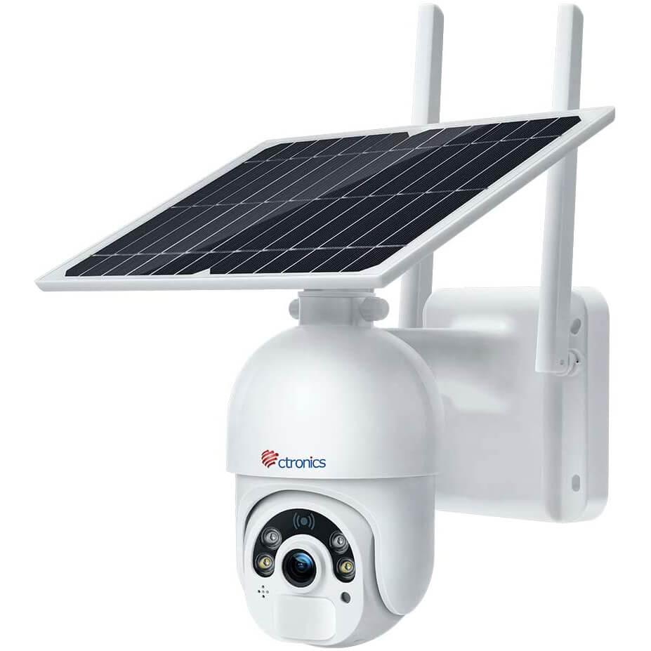 Ctronics Pan Tilt Home PTZ Solar Security Camera