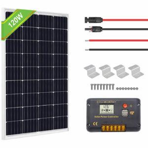 ECO-WORTHY 120 Watts 12 Volts Solar Starter Kit