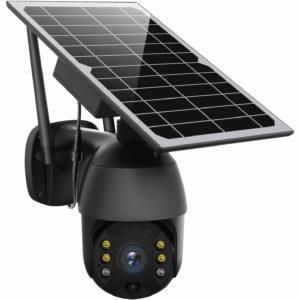 ENSTER Pan Tilt WiFi Home Smart Solar Powered Wireless Security Camera