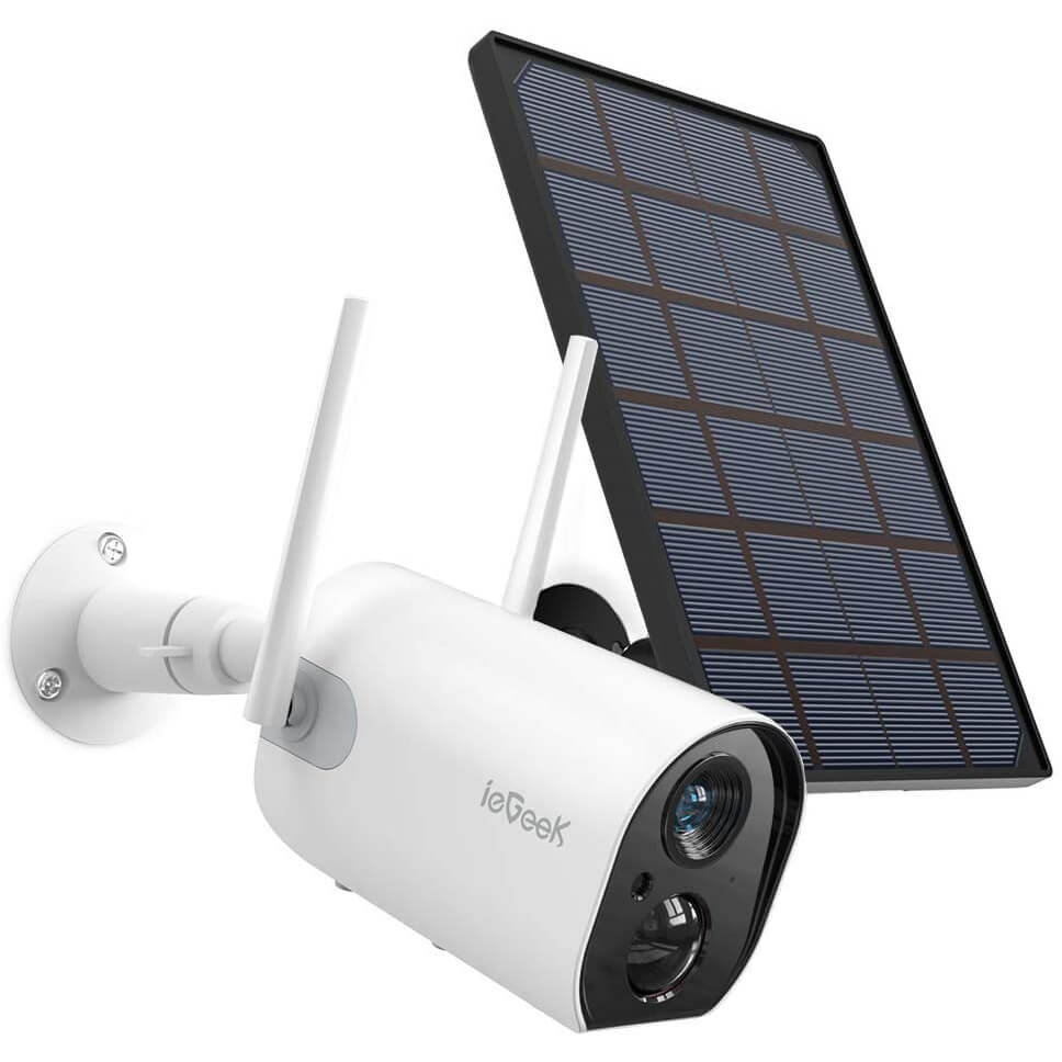 ieGeek WiFi Solar Rechargeable Battery Surveillance Home Camera