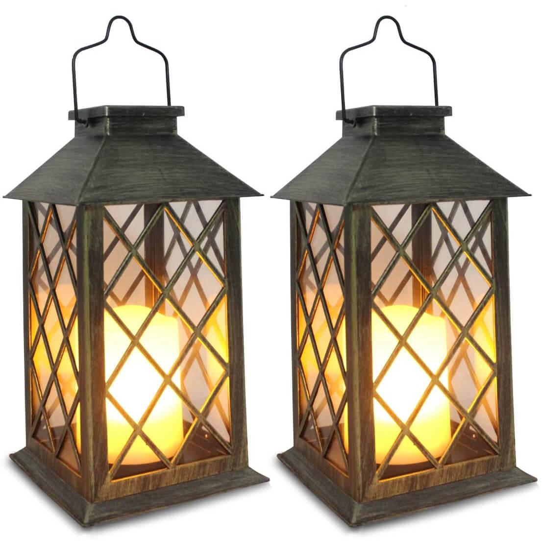 SHYMERY Outdoor Garden Hanging Solar Lanterns