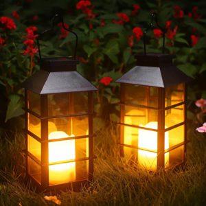 Ulmisfee Outdoor Garden Hanging Solar Lantern