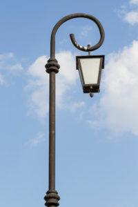 Vintage Solar Lamp Post