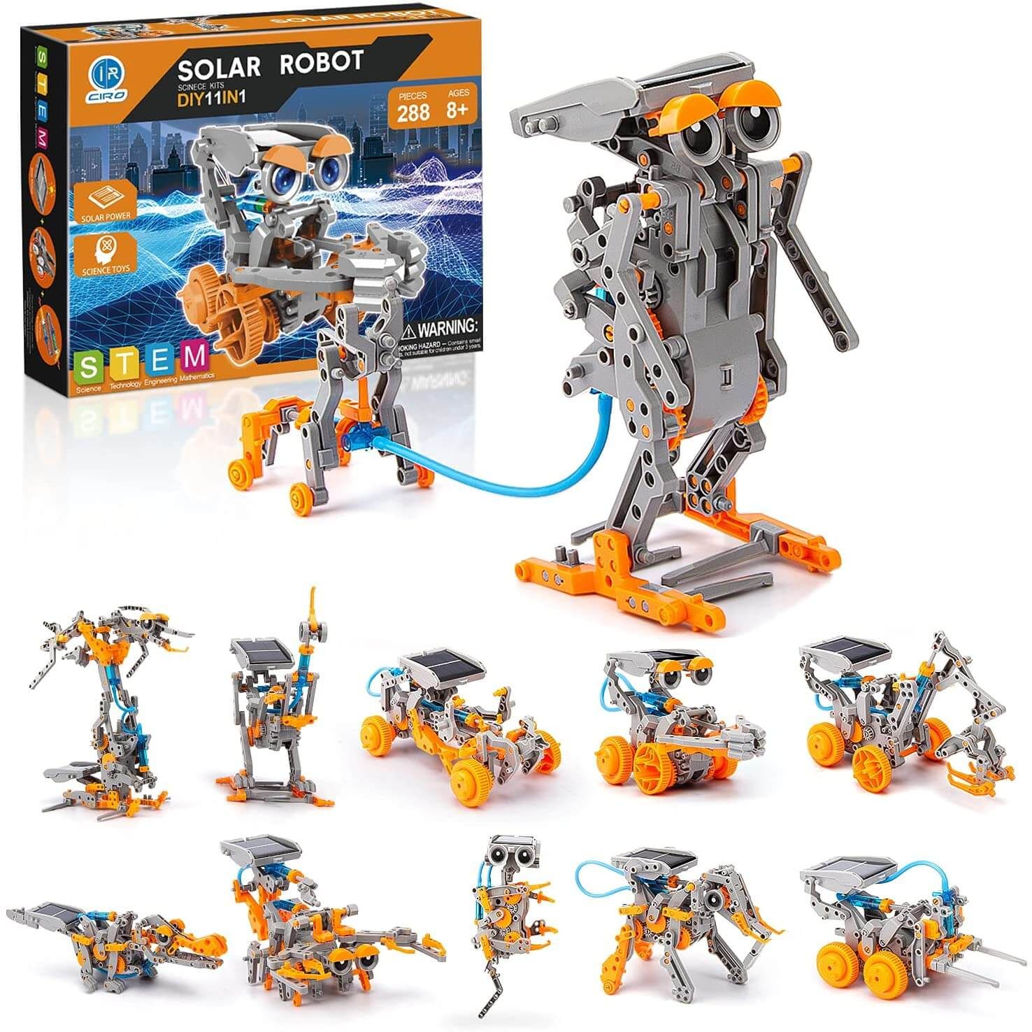 CIRO STEM Projects Solar Robot Toys 11-in-1 Education Science Experiment Kits