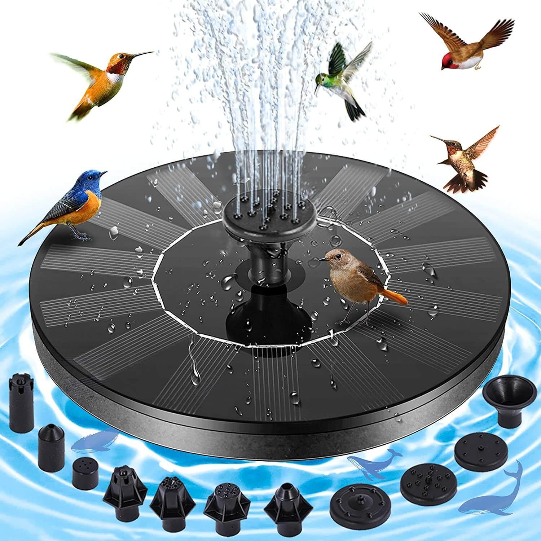 EKACO 1.4W Upgraded Solar Fountain Water Pump