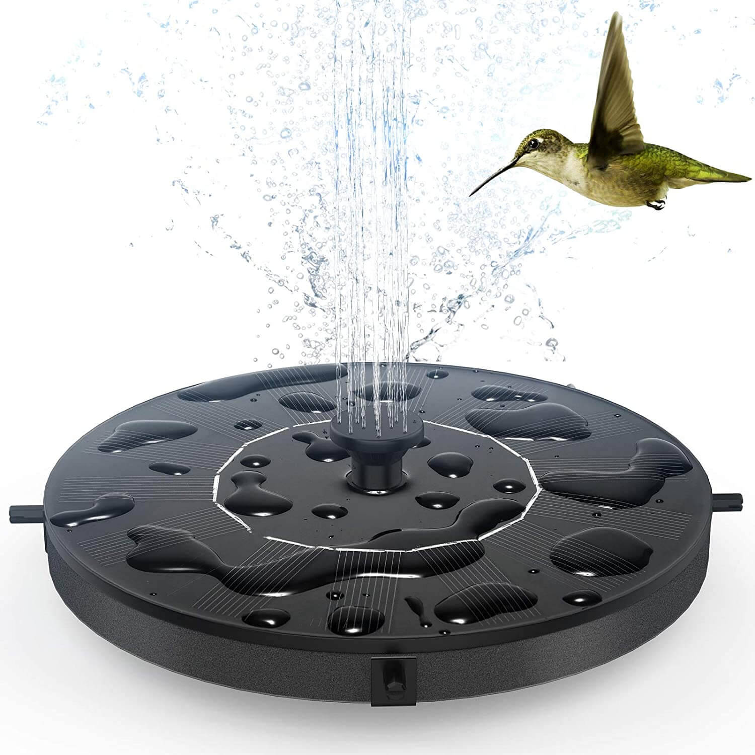 GOLDFLOWER Floating Solar Powered Water Fountain Pump