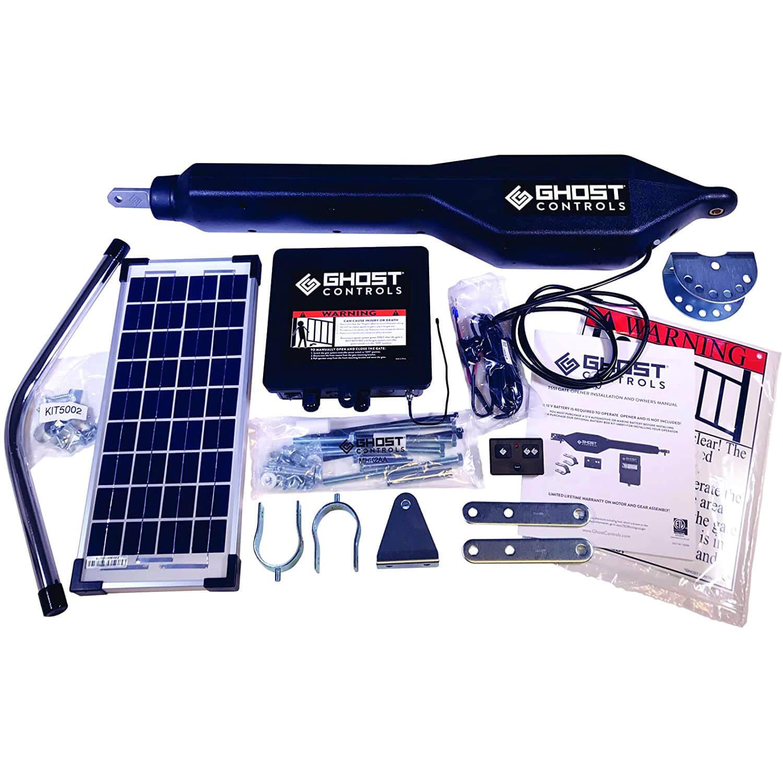 Ghost Controls TSS1XP Heavy-Duty Solar Single Automatic Gate Opener